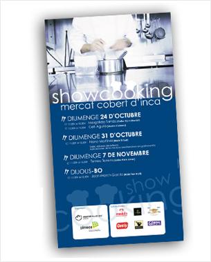 diseño de la nueva imagen de los showcooking en el mercado de inca