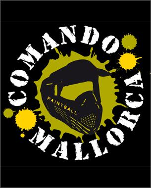 creación de la imagen de la nueva empresa dedicada al paintball, comando mallorca