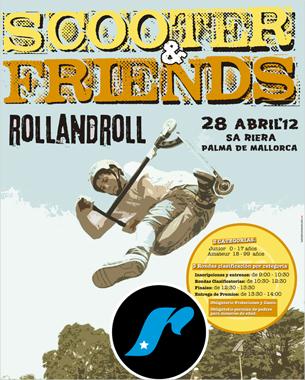 de nuevo estamos junto a rollandroll, está vez con el diseño del cartel se scooter & friends