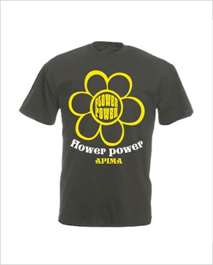 Diseño y realización de las camisetas de la flower power que organizaron en Ca ses monges de alaró