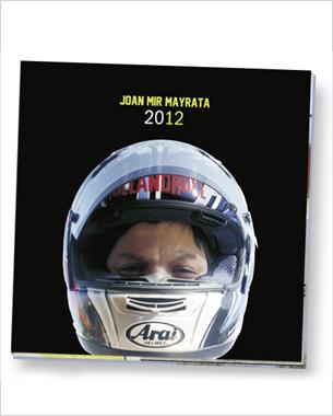 Diseño y maquetación del book promocional del joven piloto mallorquín joni mir, para su promoción dentro del campeonato de Motodes