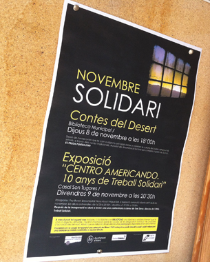 realización del cartel para los diferentes eventos programados en noviembre por el departamento de cultura del ayuntamiento de alaró