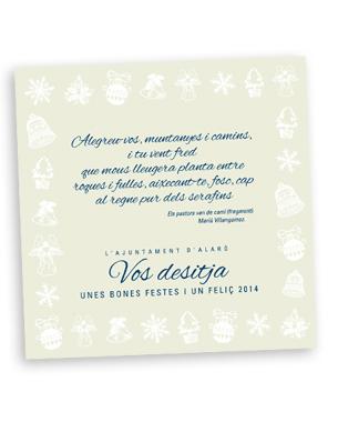 diseño del christmas para el ajuntament d'Alaró