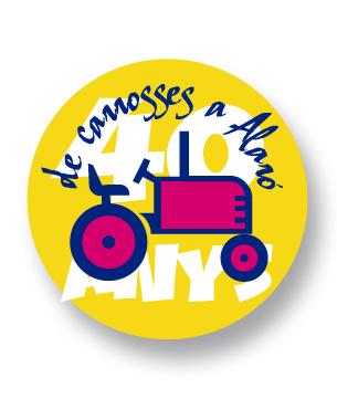 Por los 40 años de carrozas en Alaró nos encargaron un logo para celebrarlo asi como otras aplicaciones como son el diseño e impresión de chapas, carteles...
