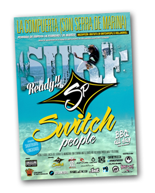 diseño para la primera competición de surf en switch