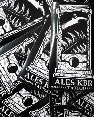 serigrafia de los adhesivos del tauador Ales KBR