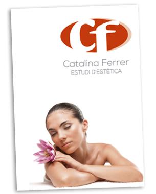 Lifting a su logo asi como diseño del flyer del gabinete de estética catalina ferrer